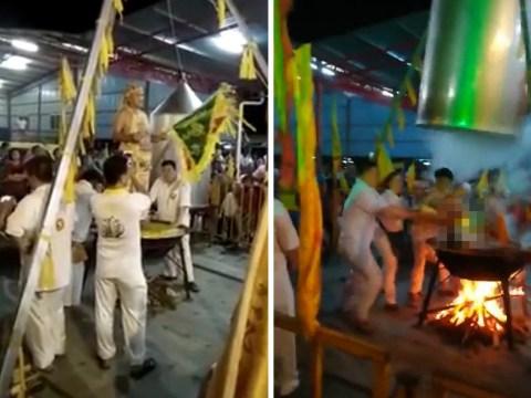 Spiritual guru boils himself alive trying to prove his 'physical endurance' to followers