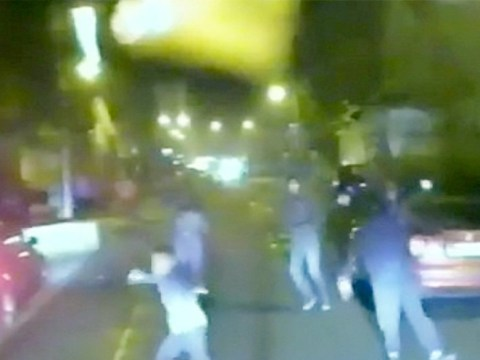 Firefighters release footage of themselves being attacked with stones, bricks and fireworks