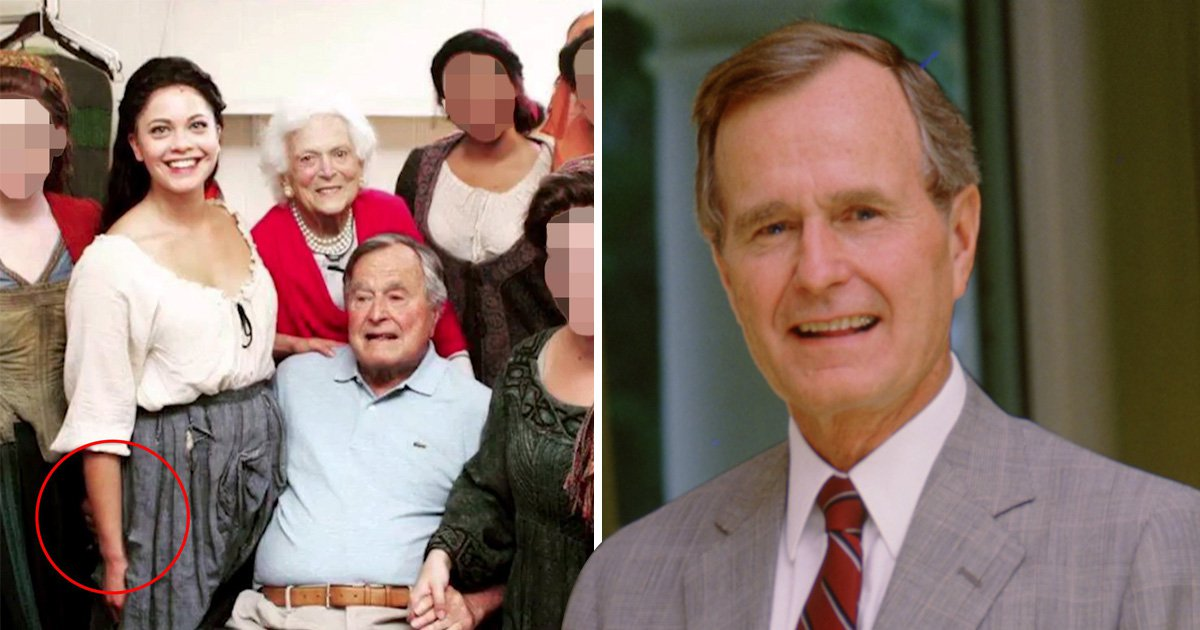 George Bush Sr admits he occasionally 'patted women's rears'