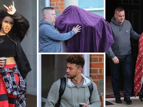 X Factor finalists go undercover as they leave the house for final pre-show rehearsals