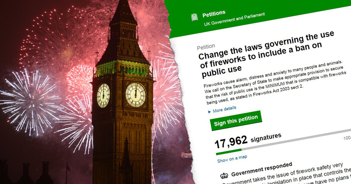 Petition to ban fireworks reaches 17,000 signatures