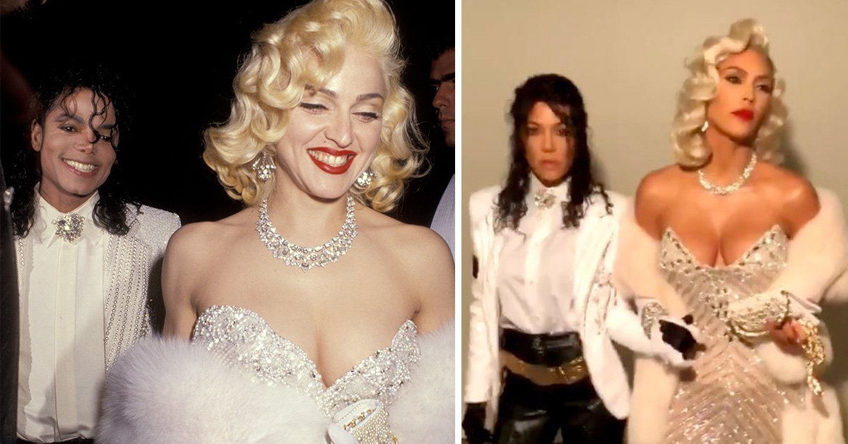 Kim and Kourtney Kardashian look everything like Madonna and Michael Jackson in these Halloween costumes