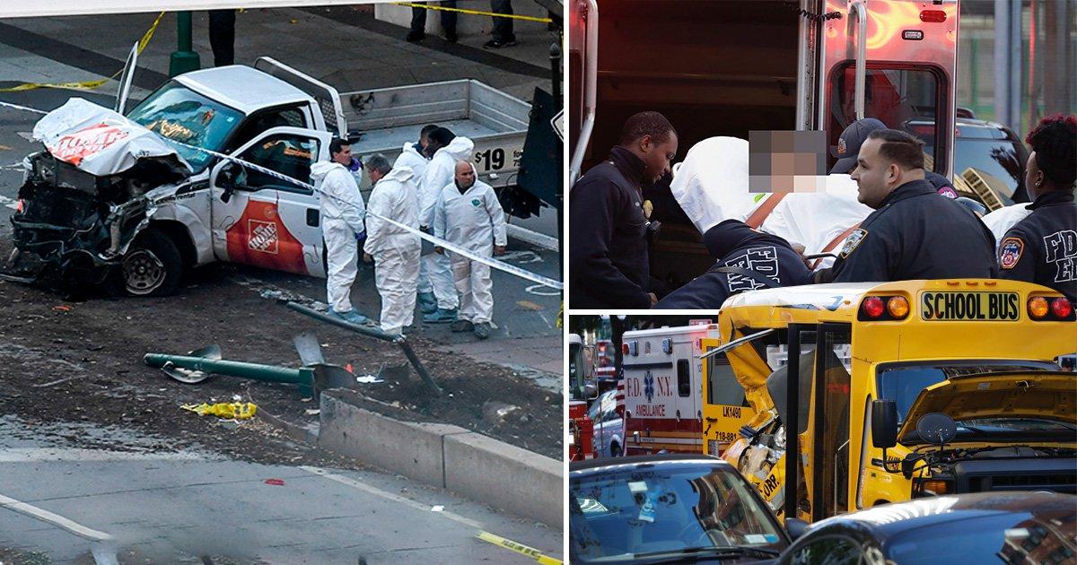 Manhattan terrorist armed with paintball gun shouts 'Allahu akbar' after killing eight