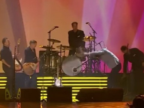 Prince Harry bows down to rock gods Bruce Springsteen and Bryan Adams at Invictus Games closing ceremony