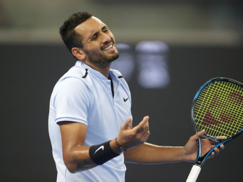 Nick Kyrgios discusses controversial line call during Rafael Nadal demolition