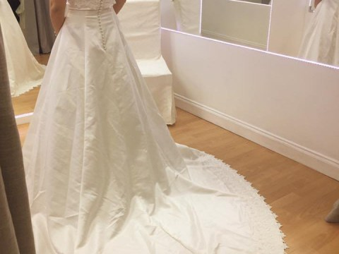 You can buy a wedding dress for just £25