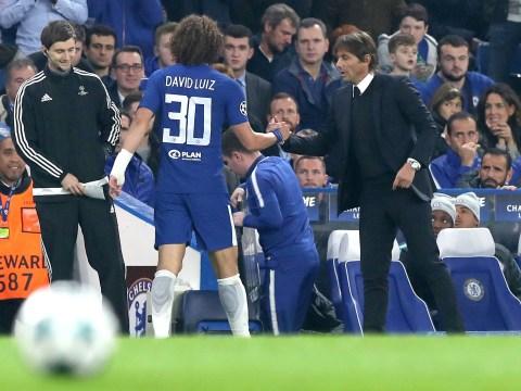 Antonio Conte aims subtle dig at Chelsea board while providing David Luiz injury update