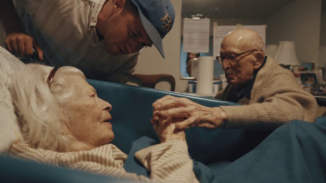 Heartbreaking video captures moment 100-year-old couple celebrate wedding anniversary
