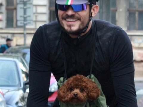 Orlando Bloom's pup is the happiest little guy as he gets a cycling tour of Prague
