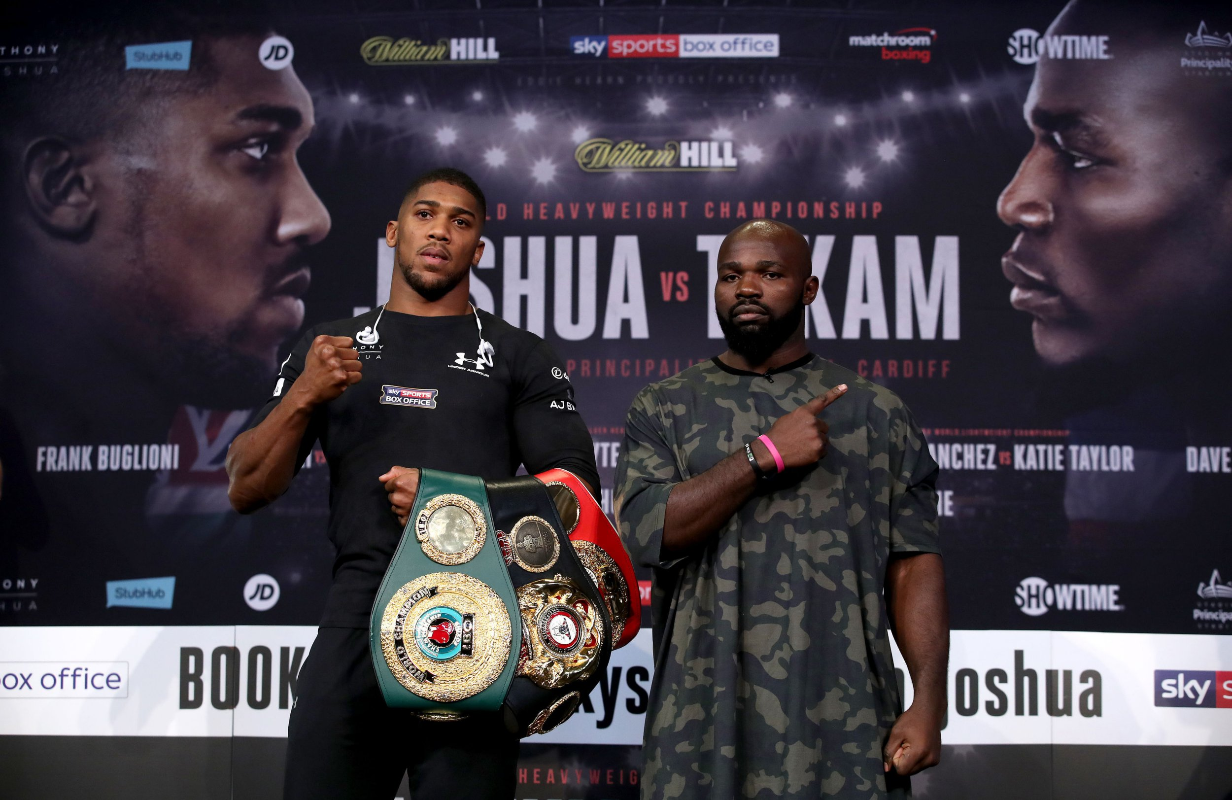 What time is the Anthony Joshua fight and who is on the undercard?
