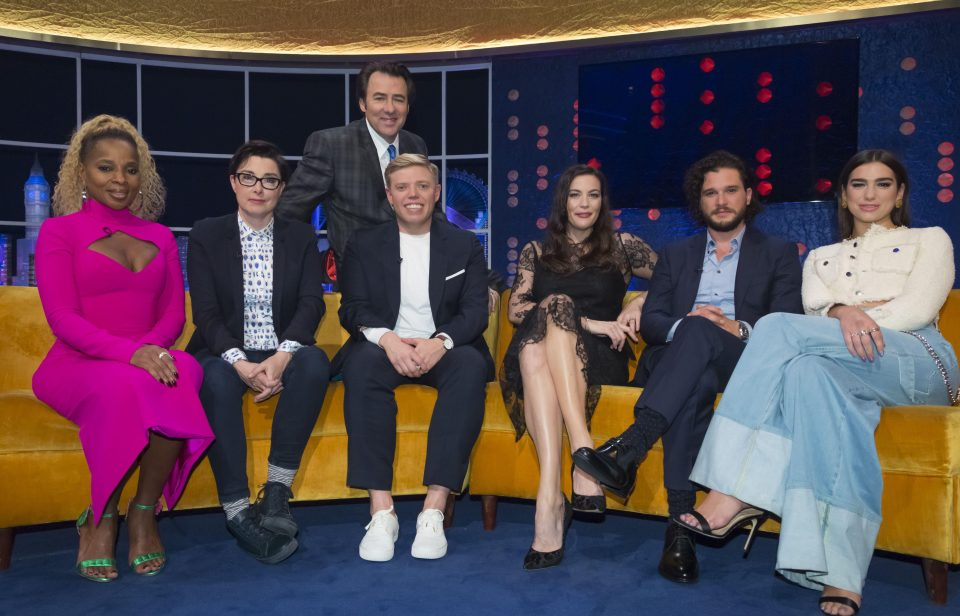 Who is on the Jonathan Ross show tonight? What can you expect?