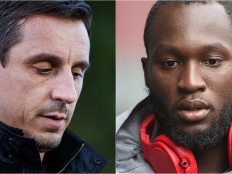 Gary Neville challenges Manchester United striker Romelu Lukaku ahead of Liverpool clash