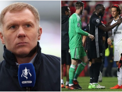 Paul Scholes trolls Romelu Lukaku after Manchester United's Champions League win over Benfica