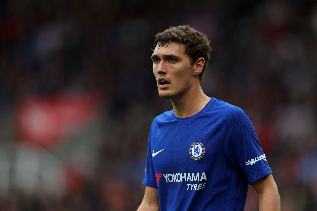 Andreas Christensen looks focused during a game