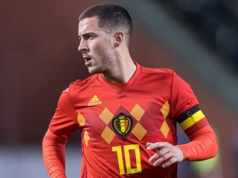 Eden Hazard puts linesman on his backside with reverse pass for Belgium vs Mexico