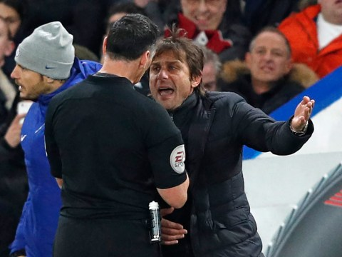 Antonio Conte charged with misconduct by FA after sending off in Chelsea's defeat of Swansea