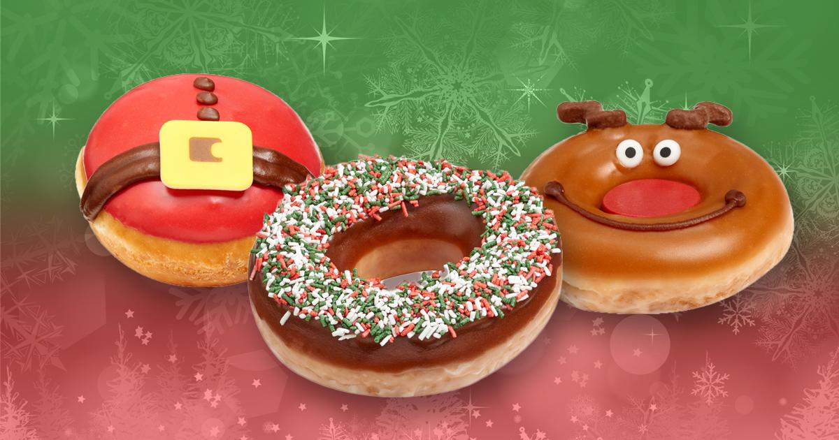 Krispy Kreme Christmas doughnuts are here