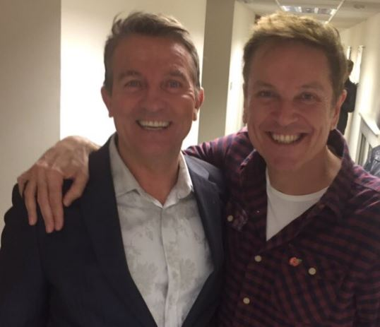 Doppelgangers Brian Conley and Bradley Walsh pose together