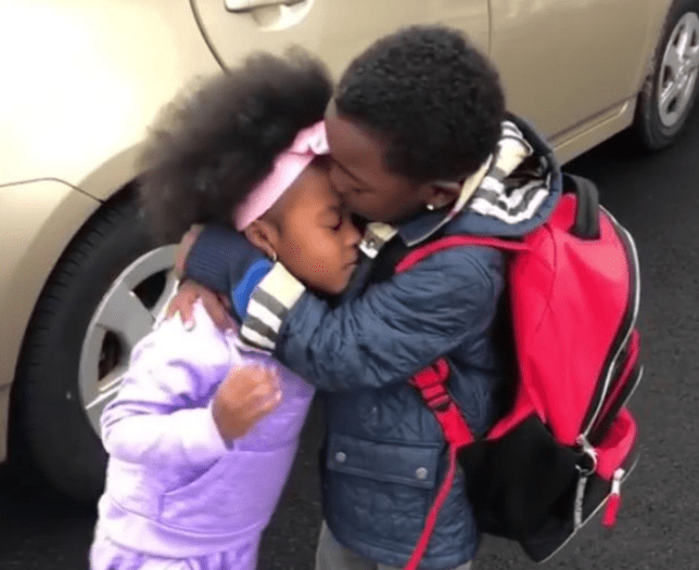 Don't bother watching these tiny siblings hugging unless you've got some tissues ready