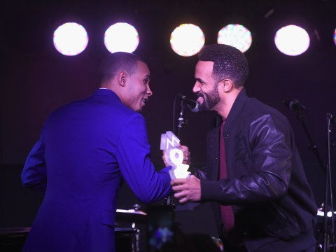 Craig David celebrates picking up his sixth MOBO Award