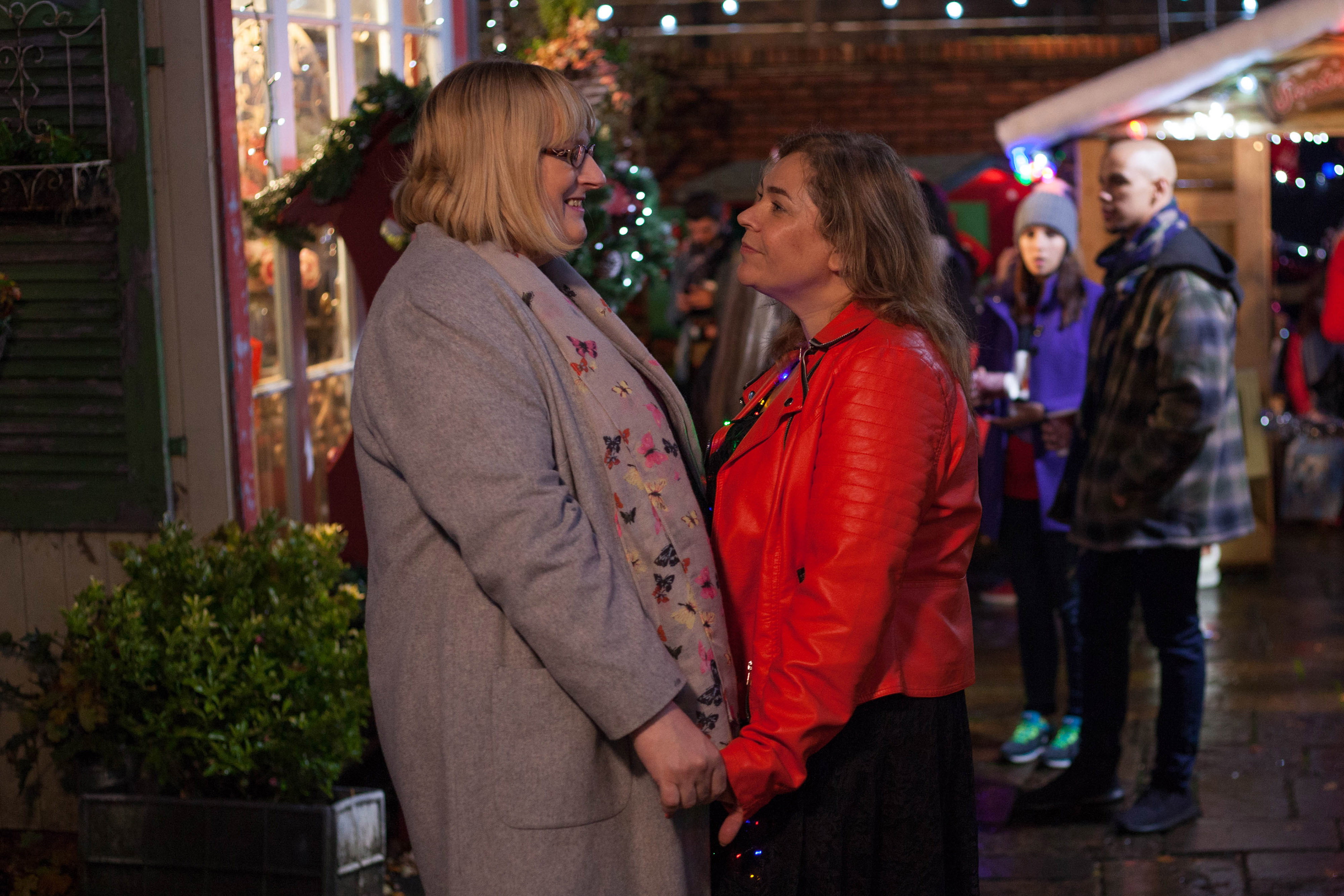 Hollyoaks spoilers: Love at last for Myra McQueen and Sally St Claire as they make it official