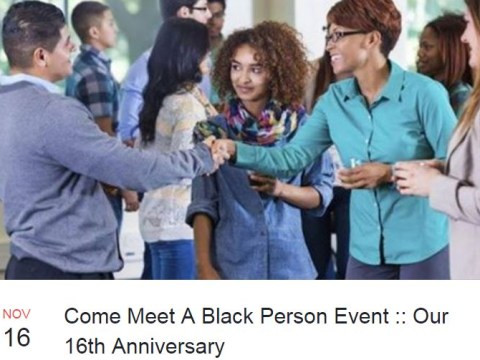 'Come meet a black person' networking event is a real thing in America