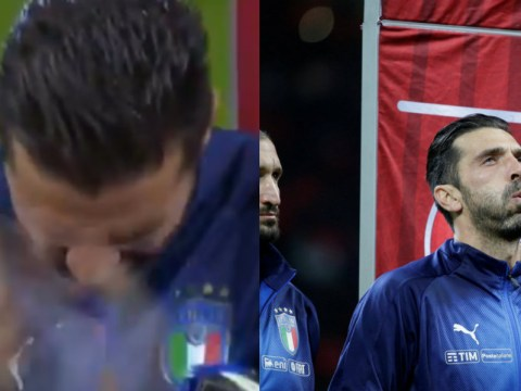 Watch: Hugely emotional Gianluigi Buffon applauds Sweden's national anthem