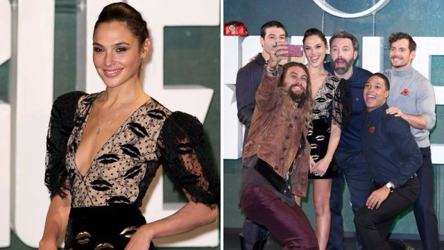 Gal Gadot leads the way in Justice League photocall as the cast unite