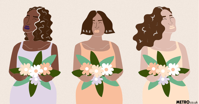 illustration of bridesmaids at a wedding