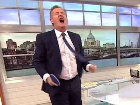 Martina Navratilova thrashed Piers Morgan at table tennis and he wasn't very happy about it