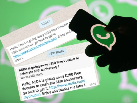 If you get a £250 Tesco or Asda voucher message on WhatsApp ignore it