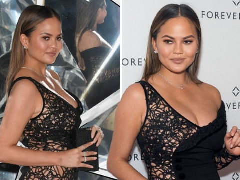 Chrissy Teigen stuns in illusion dress after tipping Ohio Outback Steakhouse waitress $1,000