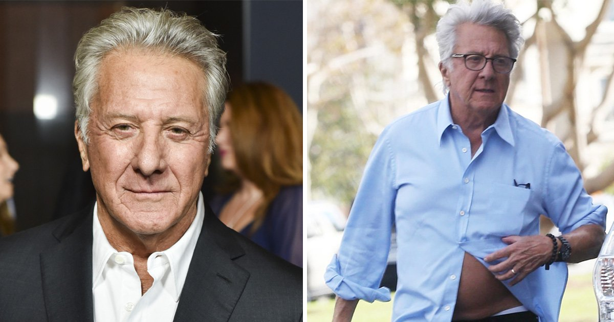 Dustin Hoffman leaves shirt unbuttoned as he emerges amidst sexual harassment allegations