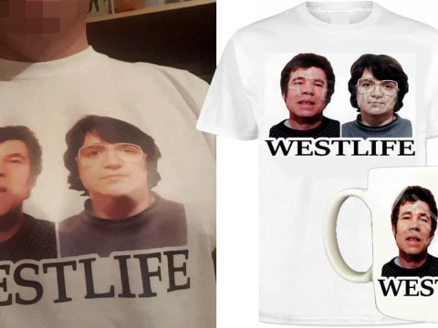 Sick items showing mass-murderers Fred and Rose West for sale on eBay