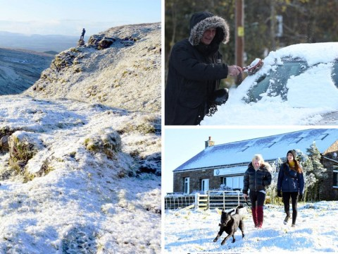 First real snow of the season hits Britain with more to come