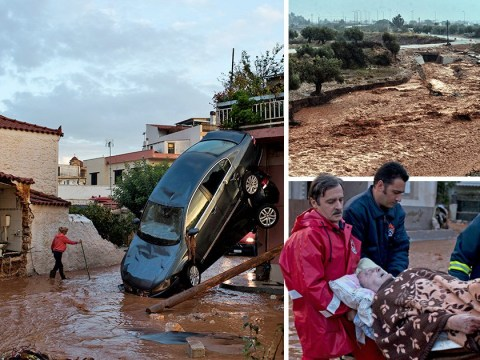 At least 14 dead after 'Biblical' flash floods in Greece