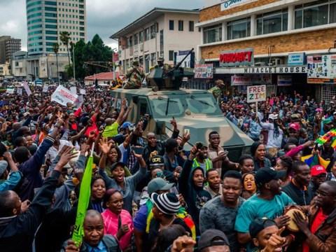 Thousands dancing on Zimbabwe streets to celebrate end of Mugabe era