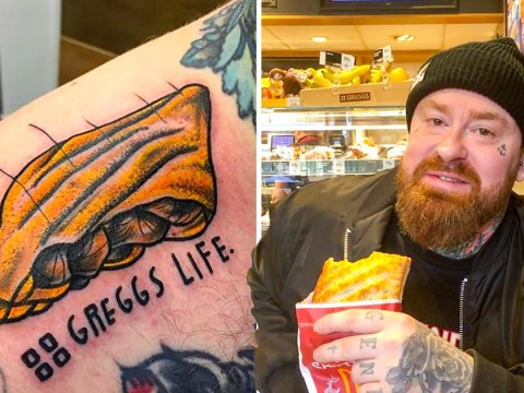 Man loves Greggs so much he had a steak bake tattooed on his body