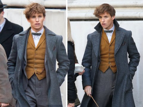 Eddie Redmayne spotted filming Fantastic Beasts 2 after announcing second pregnancy with wife Hannah