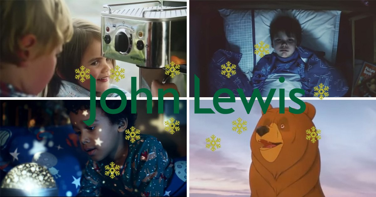 A selection of John Lewis Christmas ads