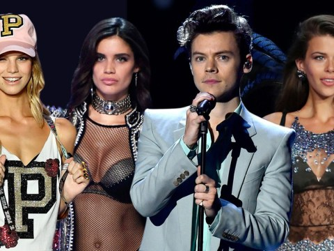 Harry Styles performs alongside three exes at the Victoria's Secret Fashion Show