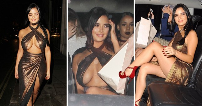 Demi Rose Seen Leaving The House Of CB Dinner