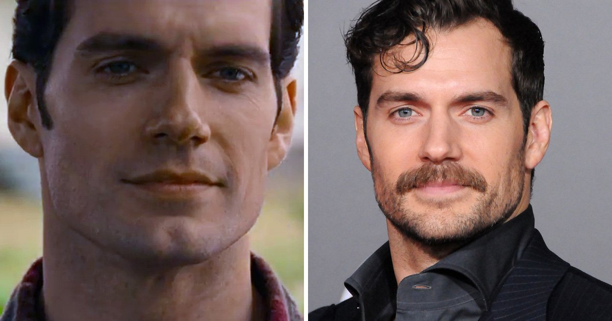 Henry Cavill's moustache was removed in Justice League using CGI and it's atrocious