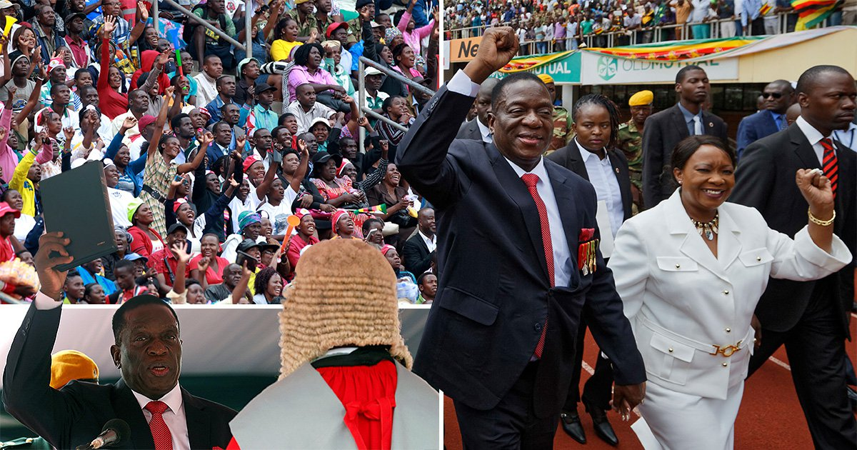 Zimbabwe's new president arrives at stadium to be sworn in