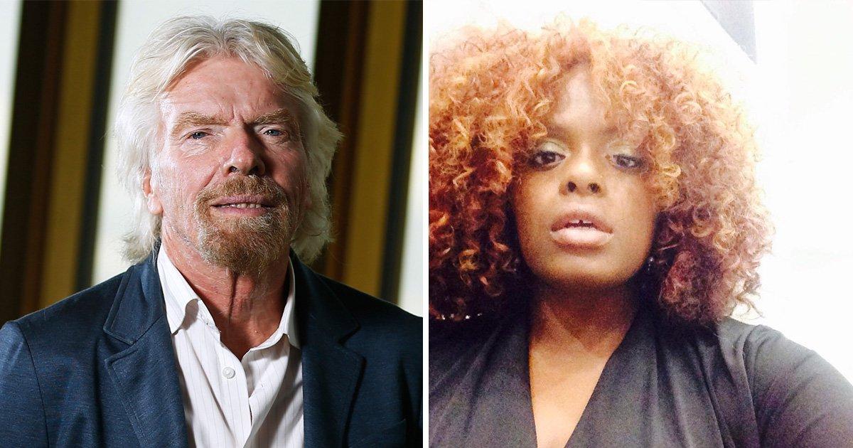 Sir Richard Branson accused of 'motorboating' singer's cleavage on Necker Island