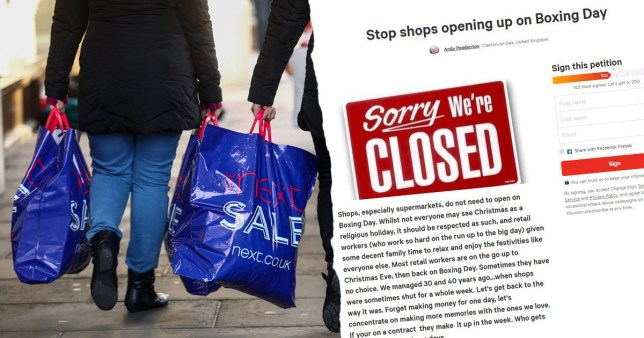 Campaign to stop shops opening on Boxing Day