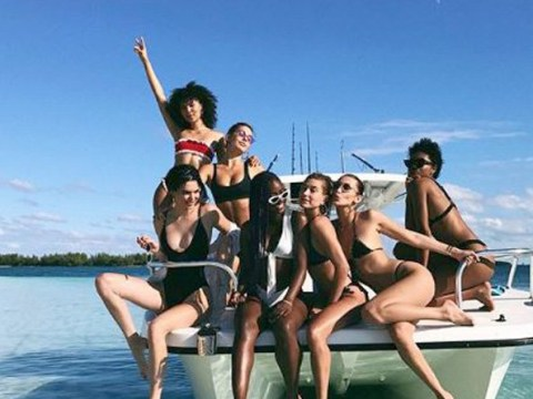 Kendall Jenner, Bella Hadid, and Hailey Baldwin are having the girls trip to end all girls trips