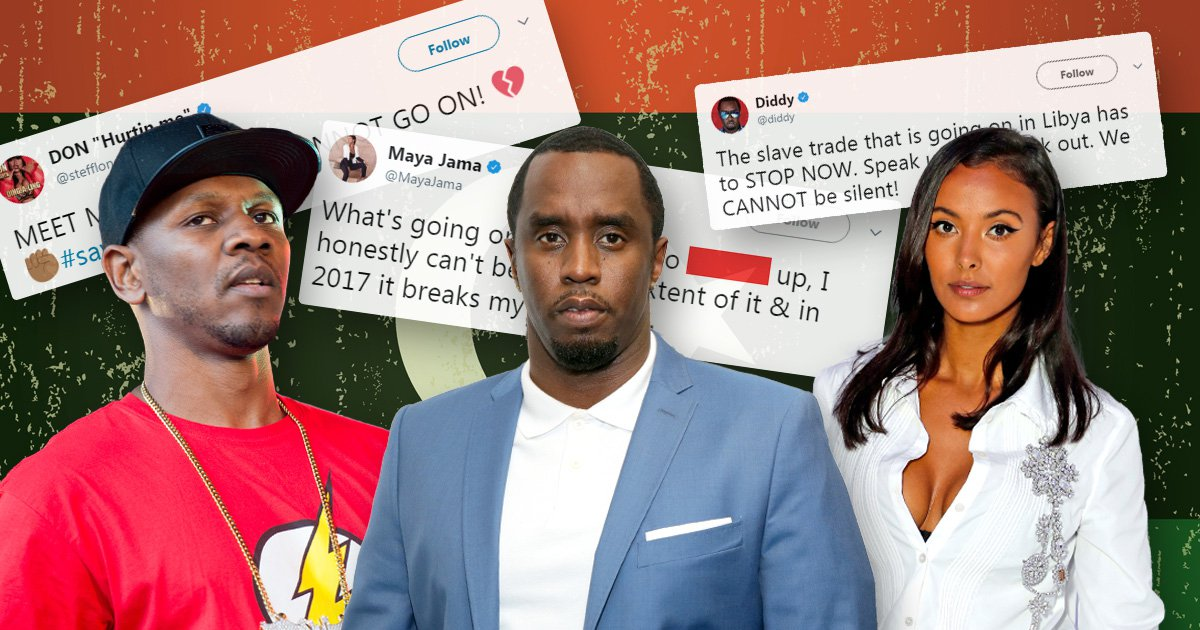 Celebrities urge followers to sign petition against Libyan slave auctions