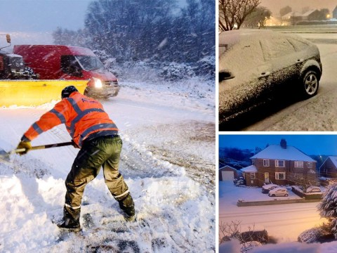 Britain wakes up to covering of snow after extremely cold night