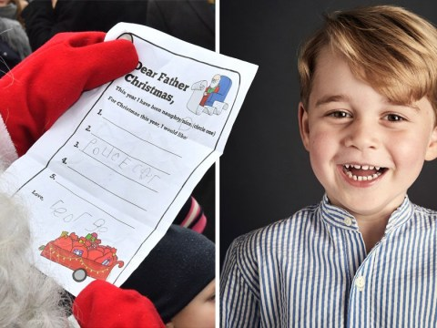 Prince George asks Santa for police car after being good all year